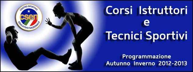 CSEN BRINDISI -Programmazione Corsi Istruttori