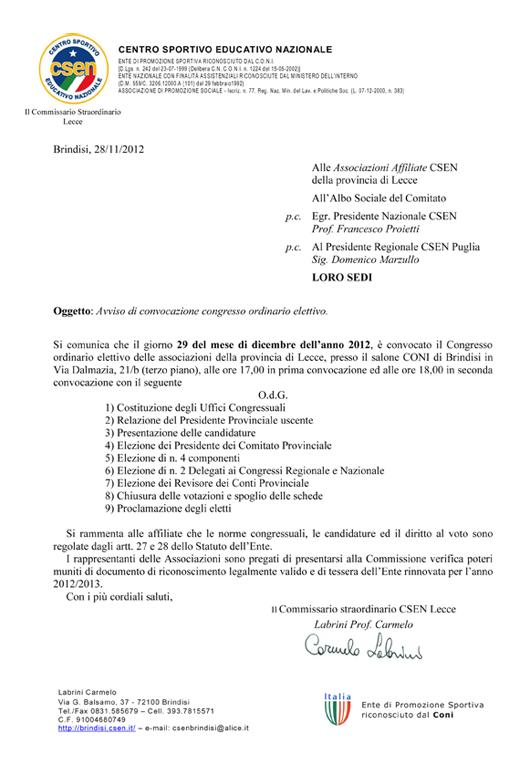 Convocazione-Lecce